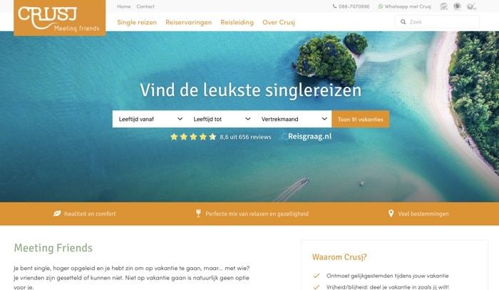 Crusj single reizen website