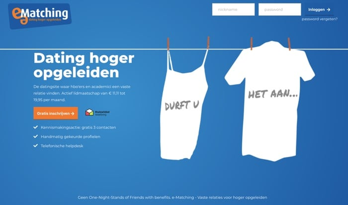 website van e-matching