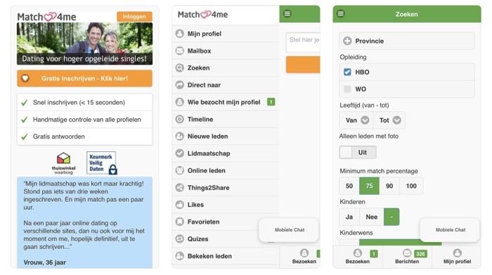 Match4me dating apps screenshots