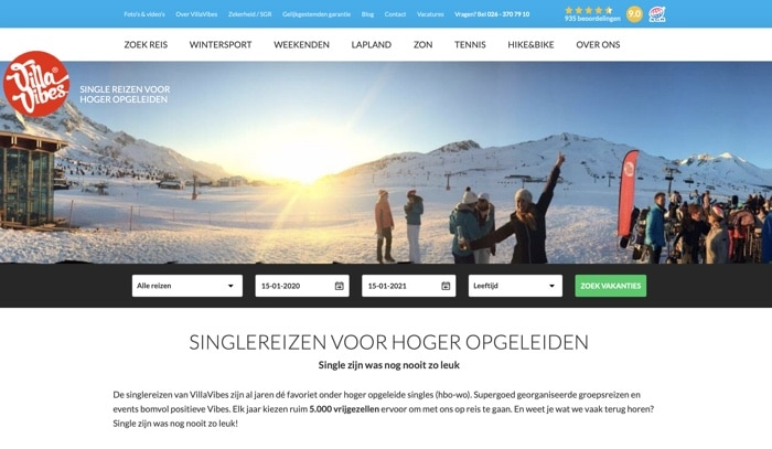 Villavibes wintersport website