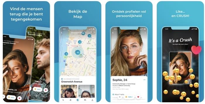screenshots happn app